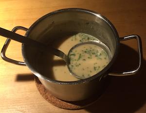 Kaesesuppe aus Oberstaufen